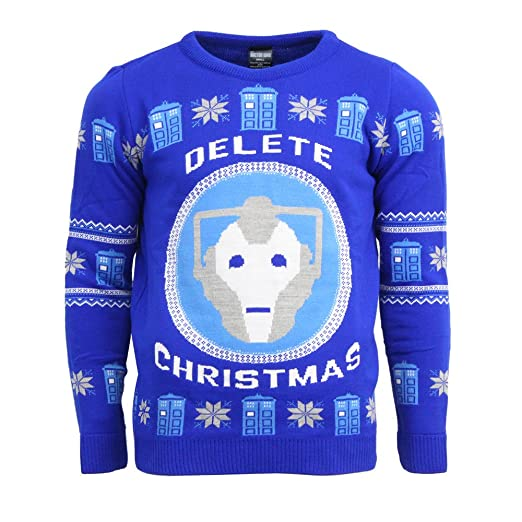 Amazoncom Doctor Who Official Bbc Ugly Christmas Sweater Uk Mus S