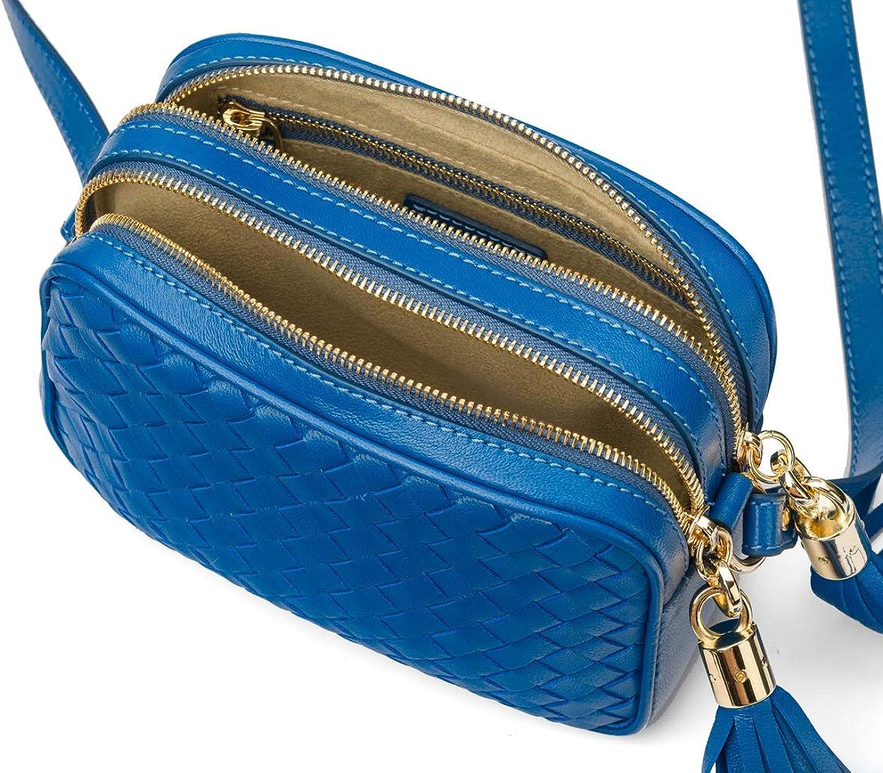 SAGEBROWN Polly Woven Camera Bag Cobalt
