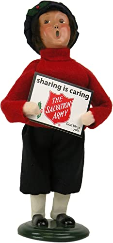 Byers Choice Caroler Salvation Army Boy Holding Sign 2015