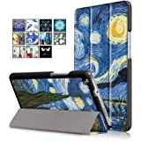 DETUOSI Huawei Mediapad M3 Lite 8'' Custodia Case Slim Folio in PU Pelle Case Cover Custodia per Huawei Mediapad M3 Lite 8 Pollici Tablet (con Funzione of Auto Wake/Sleep)