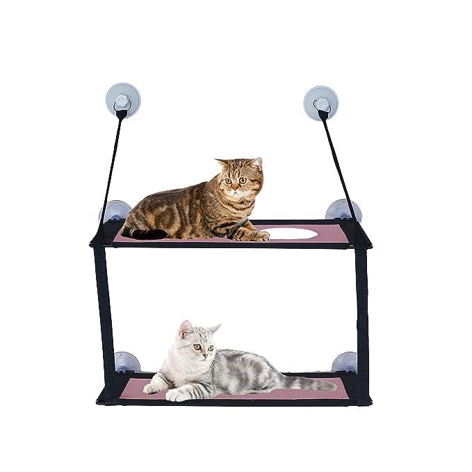 ANPI Cama Colgante para Gato, Hamaca para Ventana de Cama con Ventosa, cómoda y Duradera Ahorro de Espacio fácil de Limpiar Instalar Diferentes ...