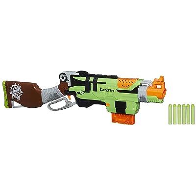 Nerf Zombie Strike SlingFire Blaster: Toys & Games