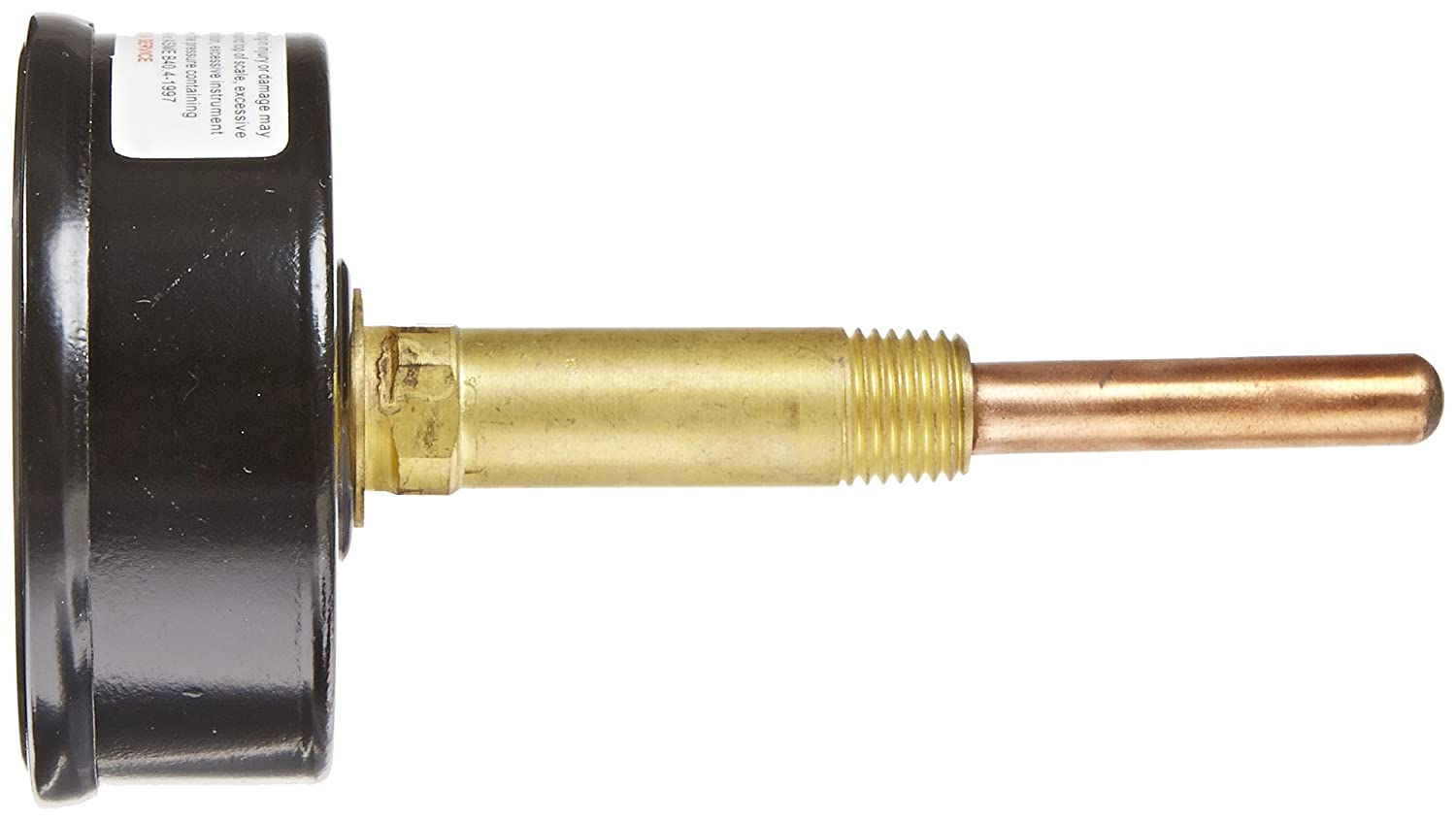 1//4 Male NPT Connection Size 0//75 psi Range Commercial Tridicators with Black Steel Case Stem Length 3.63 inches PIC Gauge TRI-RC-254R3.63-D 2-1//2 Dial Size Plastic Lens with Red Indicator Bronze Internals