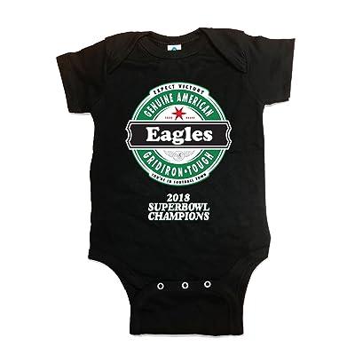 4u4Design Baby Onesie - Match Dad Football Gear - Eagles (2018 Super Bowl Champions) Block Lettering