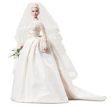 Princess Grace Wedding Dress.Mattel S Barbie Princess Grace Kelly Bride In Silkstone