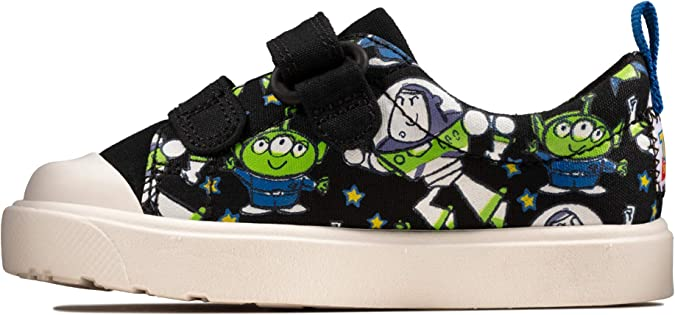 BOYS TODDLER CLARKS CITY TEAM T HOOK /& LOOP DISNEY TOY STORY CANVAS SHOES SIZE