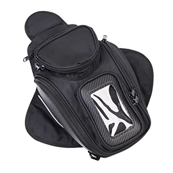 Bolsas para depósito, CONMING Motorcycle Magnético Aceite Bolsa de Combustible Knight Pack Paquete Impermeable Oxford tela GPS Travel Riding Bag Negro ...