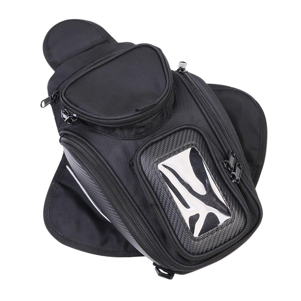 Motorcycle Tank Bag, Universal Waterproof with Strong Magnetic Gas Oil Fuel Tank Bag Magnetic Motorbike Bag for Honda Yamaha Suzuki Kawasaki Harley