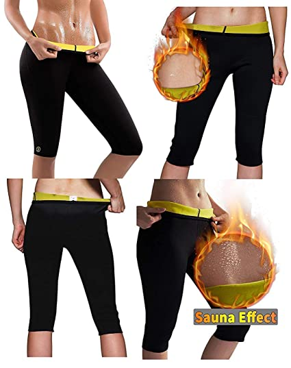 RUBS Women s Weight Loss Workout Leggings Easy Slim Hot Yoga Thigh Belly Fat  Burner Waist Trainer 182560030ccc