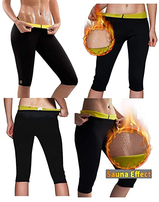 82d7bd63ac939 RUBS Women s Weight Loss Workout Leggings Easy Slim Hot Yoga Thigh Belly  Fat Burner Waist Trainer