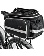 Disconano Waterproof Multi Function Excursion Cycling Bicycle Bike Rear Seat Trunk Bag Carrying Luggage Package Rack Panniers with Rainproof Cover