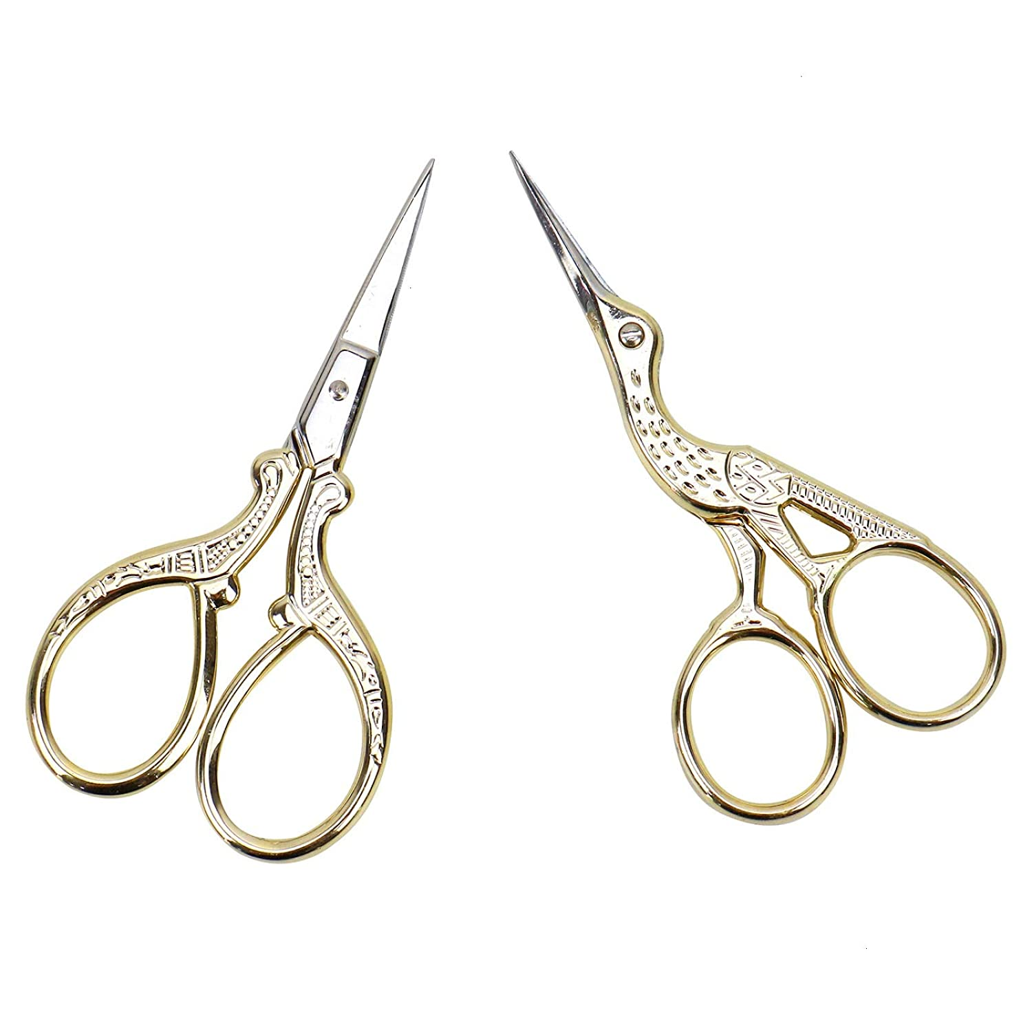 AQUEENLY Embroidery Scissors, Stainless Steel Sharp Stork Scissors for  Sewing Crafting, Art Work, Threading, Needlework - DIY Tools Dressmaker  Small