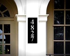 Metal Address Plaque, Address Sign, Metal Address Sign, House Numbers, Vertical Address Plaque, Horizonatal Address Sign, Address Number Custom Sign Housewarming Wall Art Decor Ornament