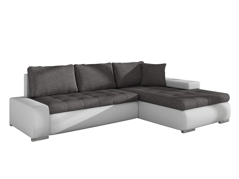 Mirjan24  Elegante Sofa Orkan Mini mit Schlaffunktion und Bettfunktion, Eckcouch Ecksofa mit Bettkasten, Couch L-Sofa Große Farbauswahl, Beste Qualität (Soft 017 + Lux 06)