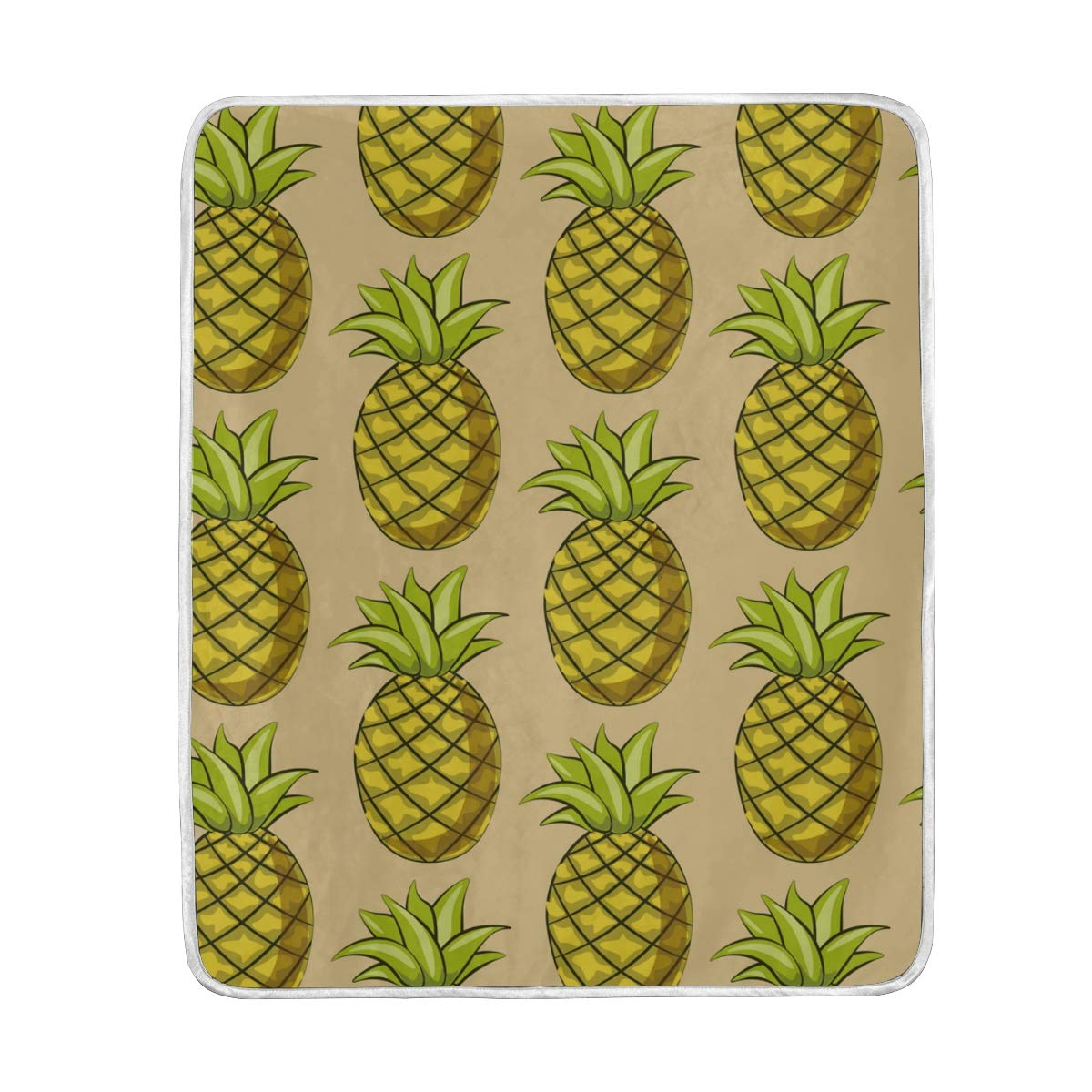 Fantastic Amazon Com Pineapple Pattern Yellow Throw Blanket Bed Couch Creativecarmelina Interior Chair Design Creativecarmelinacom