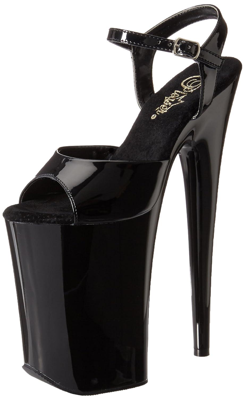 Pleaser Women's Infinity-909/B/M Platform Sandal B00B472PTW 7 B(M) US|Black/Black