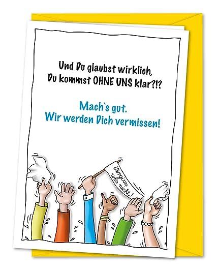 Karte Abschied Kollege.Xxl Karte Zum Abschied Von Kollegen Oder Freunden In Rente Ruhestand Umzug Ausland Inkl Umschlag Din A4