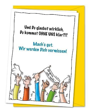 Xxl Karte Zum Abschied Von Kollegen Oder Freunden In Rente Ruhestand Umzug Ausland Inkl Umschlag Din A4