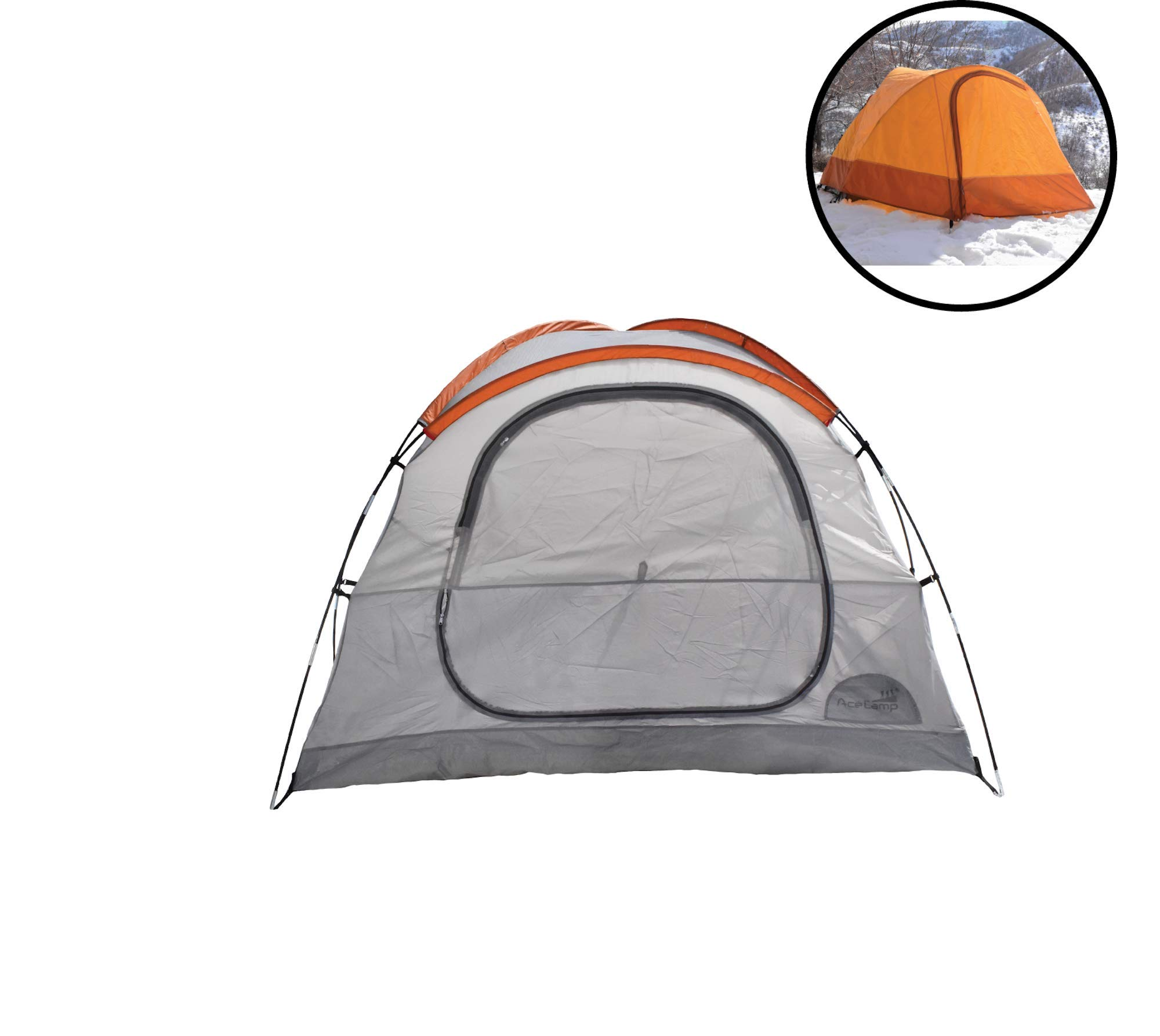 AceCamp Horizon 3-Person Tent, Portable Waterproof Camping Tent for Three People, Outdoor Easy Setup Tent, Giant Vestibules, Gear Loft & Storage Pockets, 3 Man Tent by AceCamp