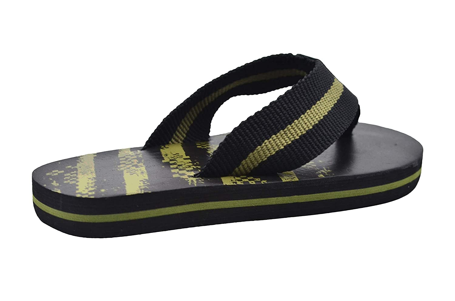 Revo Boys Flip Flop Little Kid Striped Thong Sandal with Printed Footbed