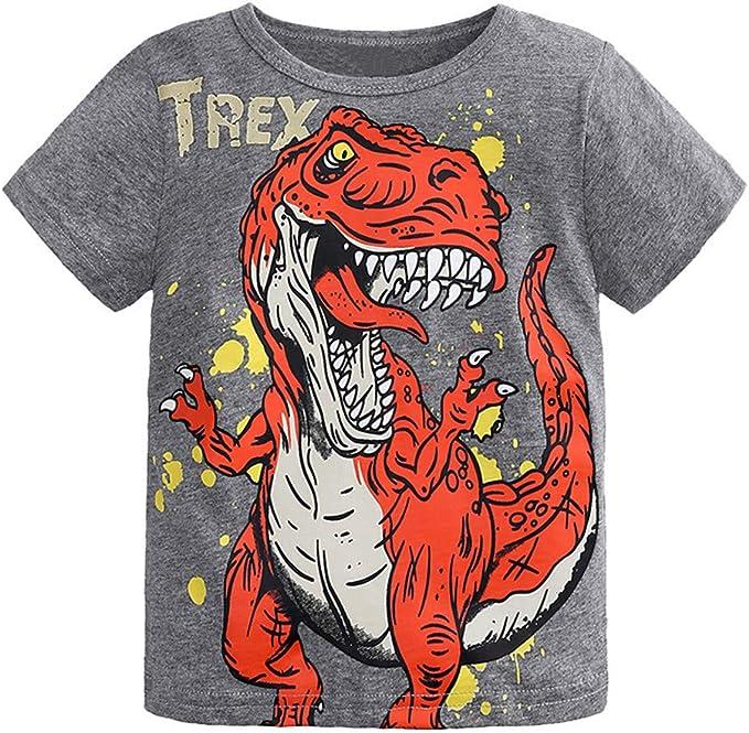 Kinder Baby Jungen Sommer Kurzarm T-Shirt Top Freizeit Tee Lang Hosen Outfit Set