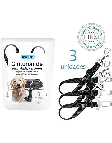 HappyPets Cinturón Perro Coche 3 unidades - Cinturón De Seguridad Para Perros y Mascotas Domésticas -