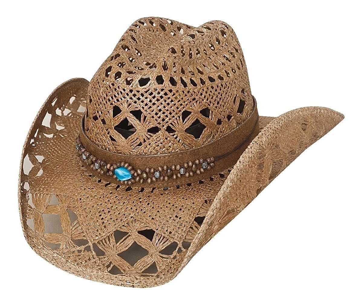 Bullhide Bean Me Up Women s Straw Cowgirl Western Hat 2802 at Amazon  Women s Clothing store  0ee3fd457db4