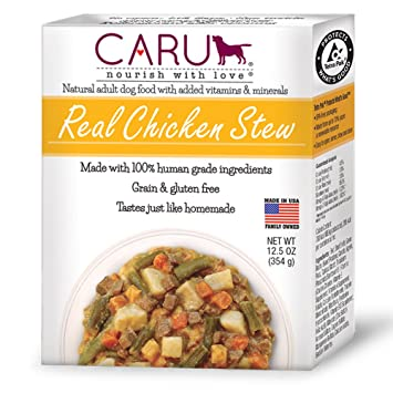 Caru Real Chicken Stew For Dogs Natural Adult Wet Dog Food With