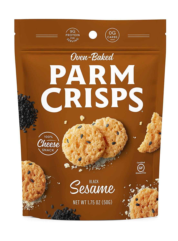 ParmCrisps 100% Cheese Crisps, Keto Friendly, Gluten Free (Sesame, 4 Pack)