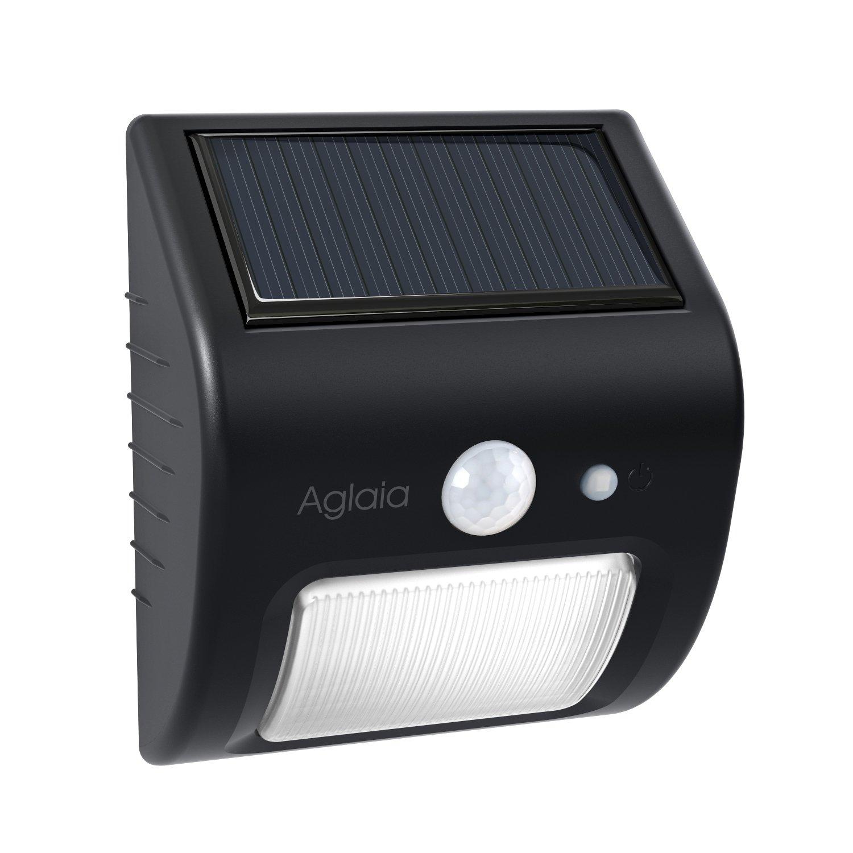 Solar Wandleuchte, Aglaia Solarleuchte Garten, LED Solarlampe Garten mit 3 Modus Bewegungsmelder, Solarleuchte Außen für Wände, Auffahrt Innenhof, Hof, Flur, Veranda