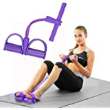 Pedal Resistance Band,Elastic Pull Rope Sit-up Band with Anti-Slip Handle for Bodybuilding Expander Abdomen Workout Arm…