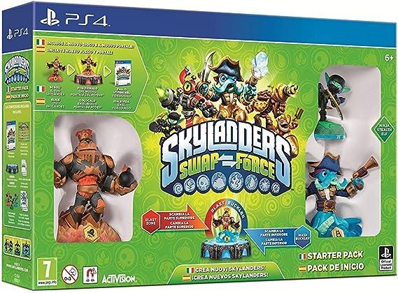 Activision Skylanders: SWAP Force - Starter Pack, PS4 - Juego (PS4, PlayStation 4, Soporte físico, Acción / Aventura, Activision, 13/10/2013, E10 + (Everyone 10 +)): Amazon.es: Videojuegos