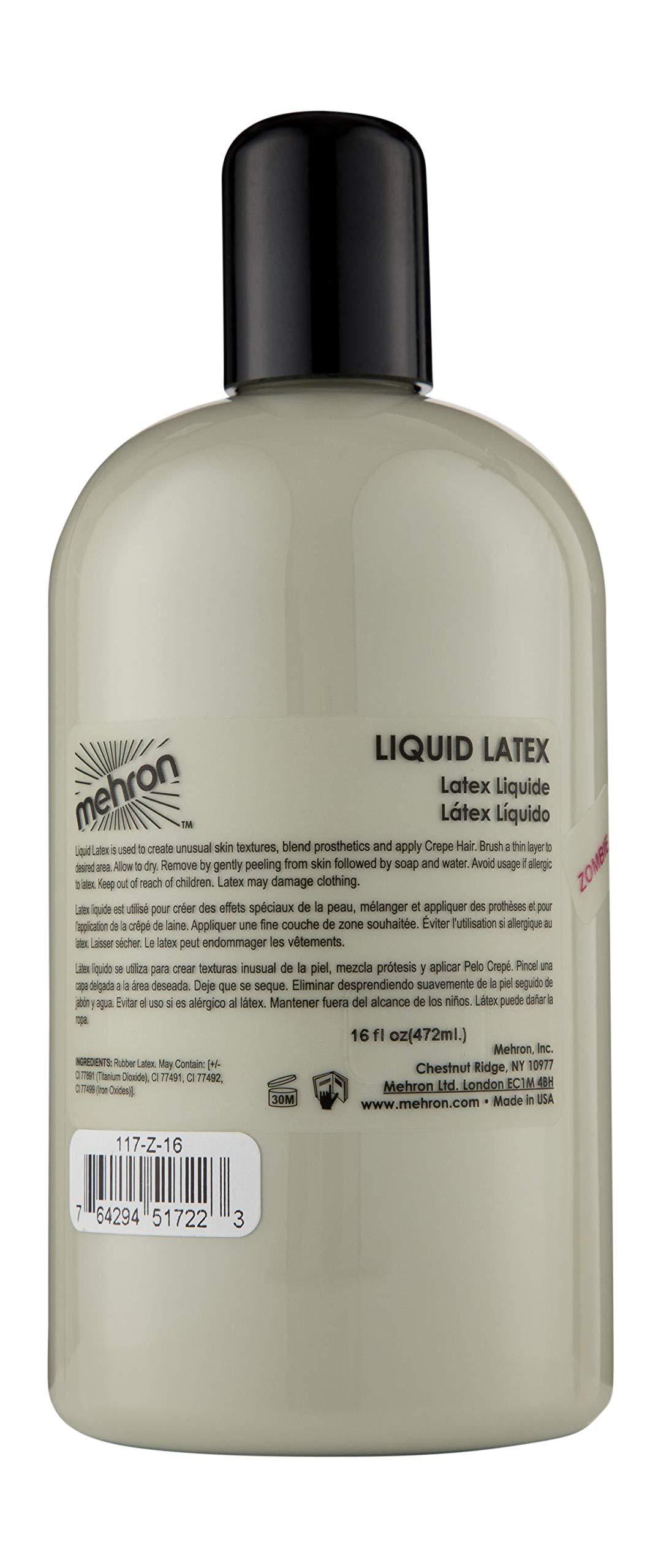 Mehron Makeup Liquid Latex (16 ounce) (Zombie Flesh)