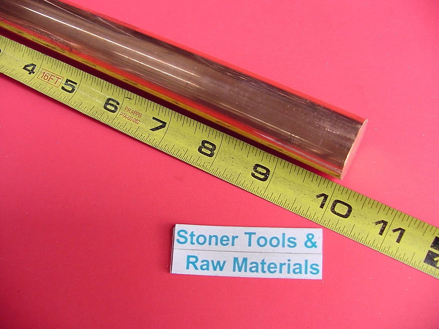 """2 Pieces 1//2/"""" C110 COPPER ROUND ROD 12/"""" long H04 Solid CU New Lathe Bar Stock"""