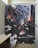Star Wars Death Star Fight Scene Shower Curtains