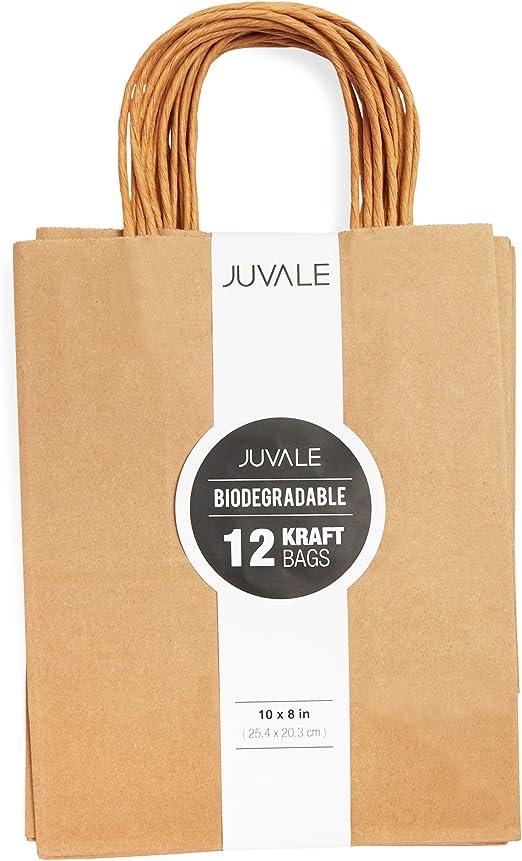 Juvale Brown Kraft Bolsas (12-Pack) - Regalo de la Fiesta de ...