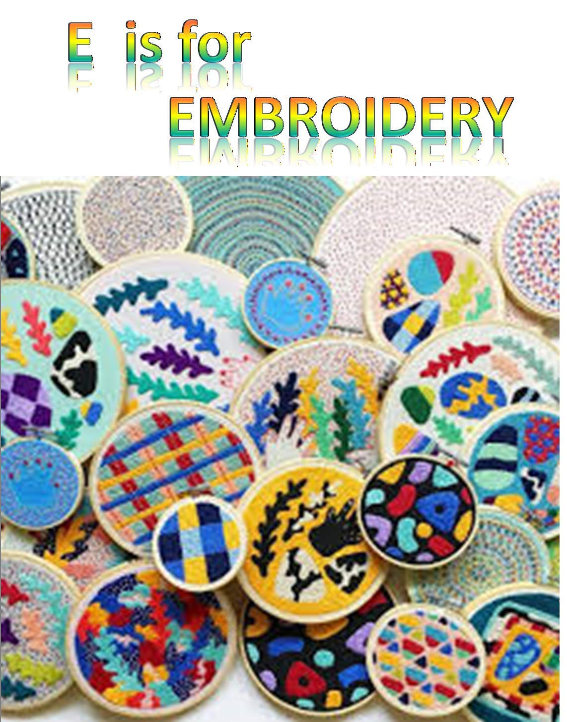 E is for Embroidery (English Edition)