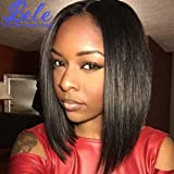 Bele Pre-Plucked Malaysian 10A Silky Straight Hair 360 Lace Frontal Wigs 130% Density With Nature Hairline Human Virgin Hair Nature Color For Black Women