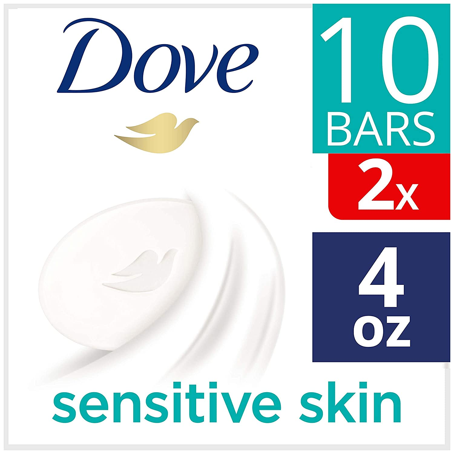 Dove Beauty Bar For Softer Skin Sensitive Skin More Moisturizing Than Bar Soap 4 oz 20 bars
