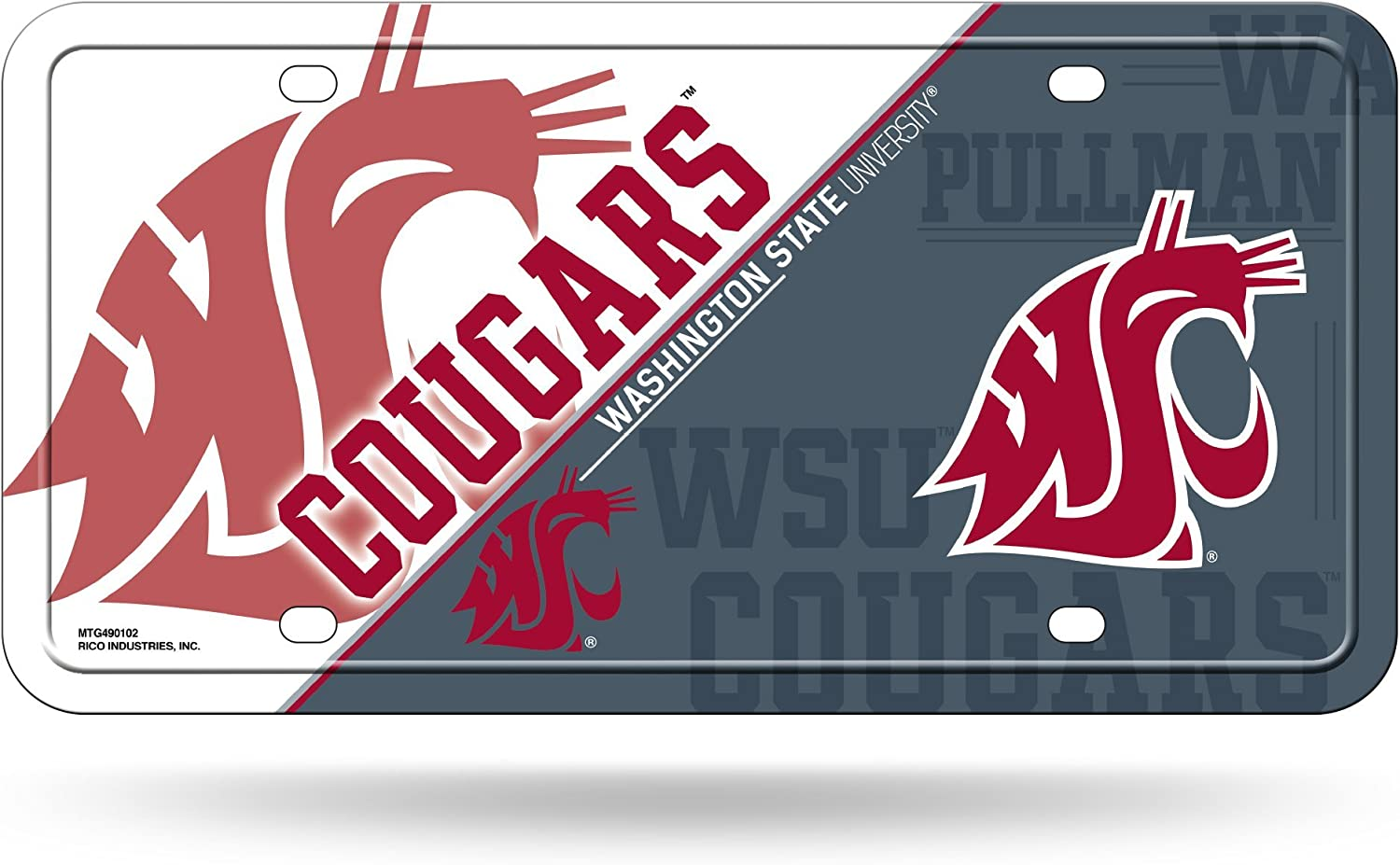 NCAA Rico Industries Bling Chrome License Plate Frame with Glitter Accent Gonzaga Bulldogs
