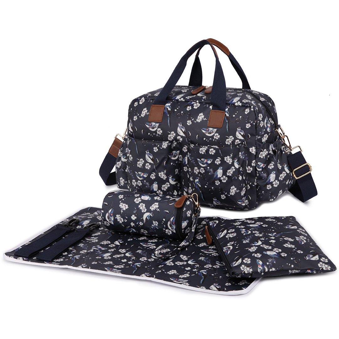 PU Leather Tote Handbag Large Shoulder Handbag Miss Lulu Set of 3 Baby Nappy Changing Bag