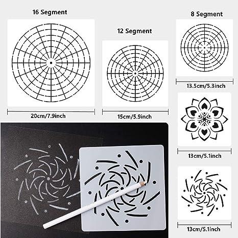 Yuema 26-teiliges Mandala-Dotting-Werkzeug-Set Acryl und /Ölgem/älde Gouache 11-Loch-Pigmenttafel geeignet f/ür Aquarell
