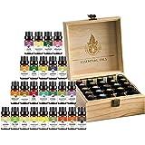 25 قطعة 10 مل مجموعة الزيوت العطرية الطبيعية للعلاج بالرائحة مع صندوق هدايا خشبية.