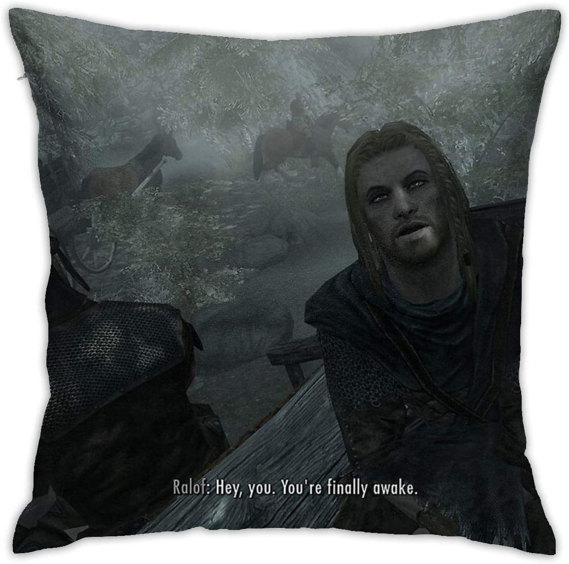 Hey You You Re Finally Awake Pillow Cover - Meme Painted