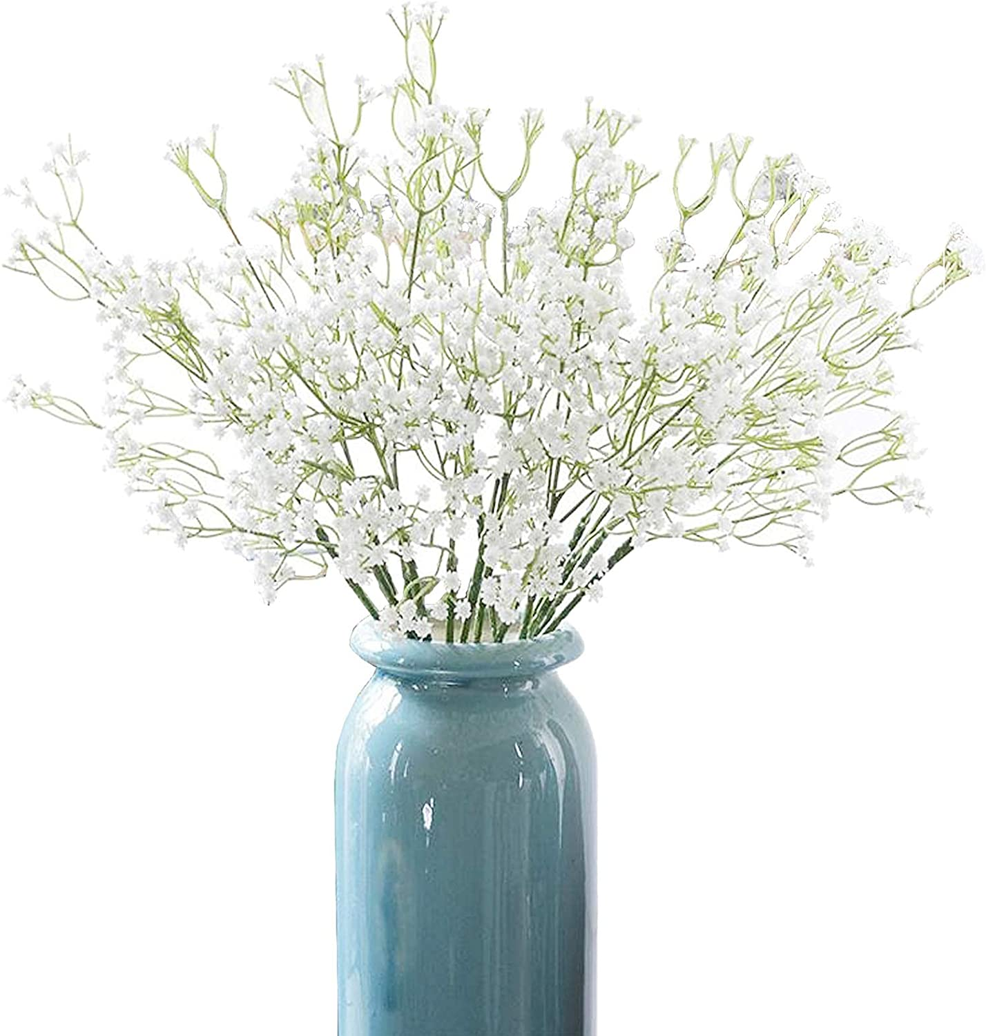 Xilanhhaa 9 Bunchs of Babys Breath Artificial Flowers,Fake White Flowers,Gypsophila Real Touch Flowers for Wedding Home DIY Decor