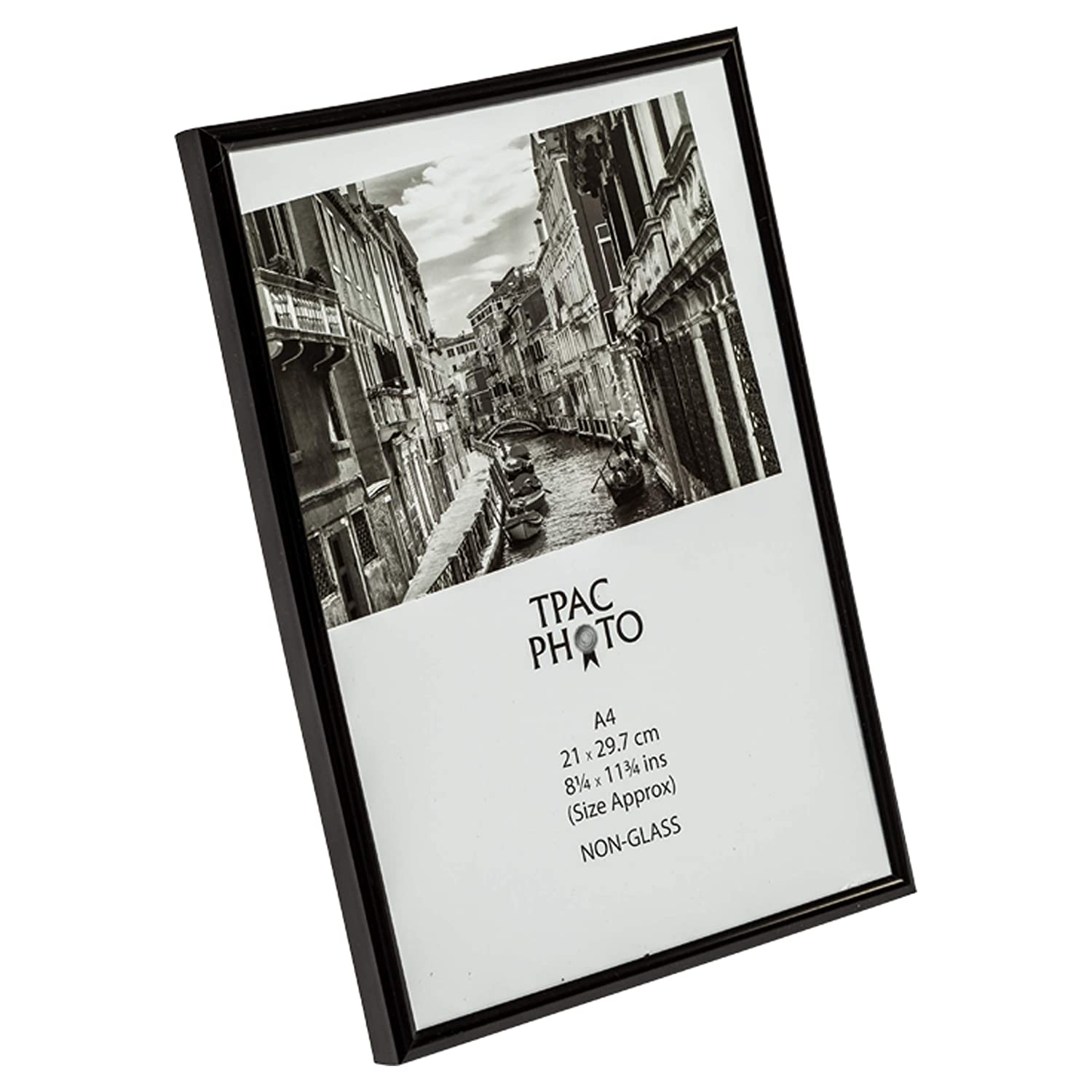 A4MARBLKNG Black Backloader A4 Certificate Photo Picture Frame Non Glass