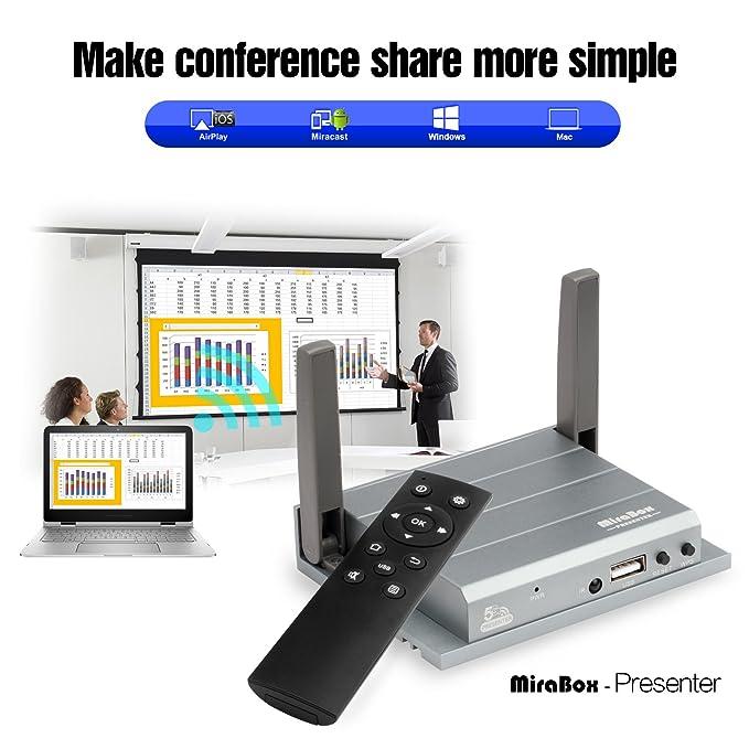 1 opinioni per MiraBox Wifi VGA HDMI Presenter MirrorLink Display per Windows 8/10,Mac OS,