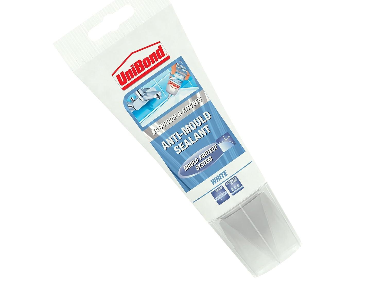 UniBond AntiMould KitchenBathroom Sealant Tube150 ml White