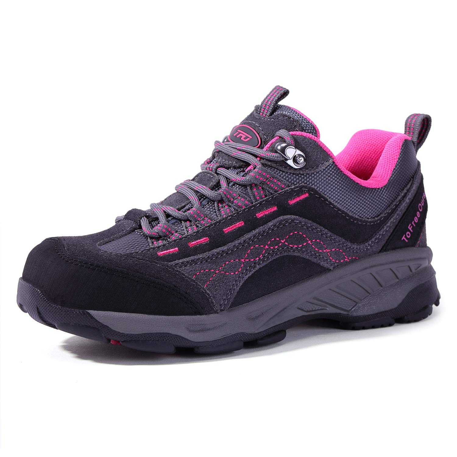 TFO Women's Air Cushion Hiking Shoe Breathable Running Outdoor Sports Trail Trekking Sneaker (5.5 M US, Gray/Rose) by TFO