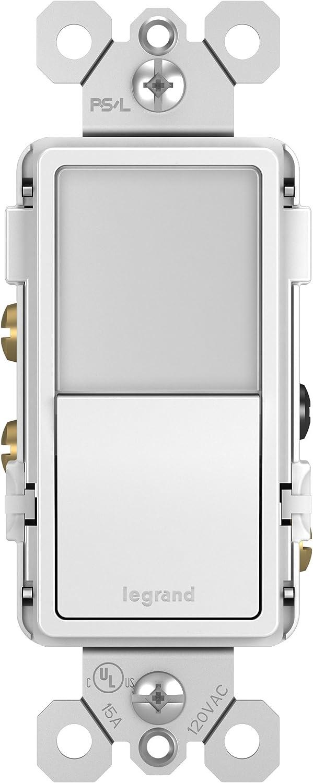 Legrand Radiant Night Light 3 Way 15 Amp Decorator Rocker Nightlight Switch For Hallways Or Kids Bedrooms Decorator Wall Plate White Ntl873wcc6 Amazon Com